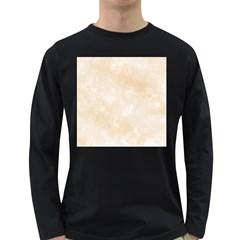 Pattern Background Beige Cream Long Sleeve Dark T Shirts