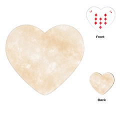 Pattern Background Beige Cream Playing Cards (Heart)