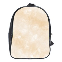 Pattern Background Beige Cream School Bags (xl)