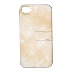 Pattern Background Beige Cream Apple iPhone 4/4S Hardshell Case with Stand