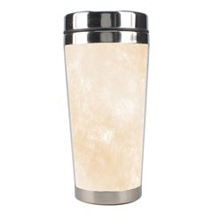 Pattern Background Beige Cream Stainless Steel Travel Tumblers