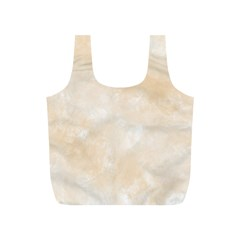 Pattern Background Beige Cream Full Print Recycle Bags (s)