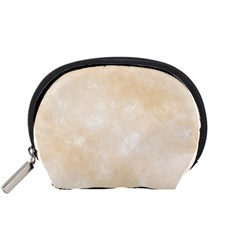 Pattern Background Beige Cream Accessory Pouches (Small)