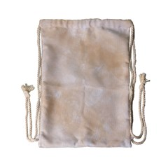 Pattern Background Beige Cream Drawstring Bag (Small)
