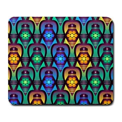 Pattern Background Bright Blue Large Mousepads