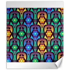 Pattern Background Bright Blue Canvas 8  x 10