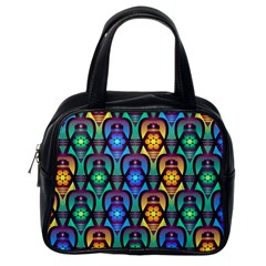 Pattern Background Bright Blue Classic Handbags (One Side)