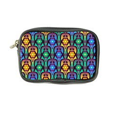 Pattern Background Bright Blue Coin Purse