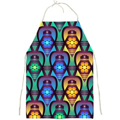 Pattern Background Bright Blue Full Print Aprons