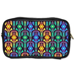 Pattern Background Bright Blue Toiletries Bags 2-Side