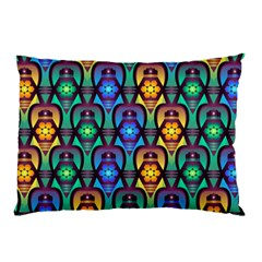 Pattern Background Bright Blue Pillow Case (Two Sides)