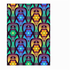 Pattern Background Bright Blue Large Garden Flag (two Sides)