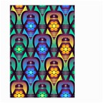 Pattern Background Bright Blue Large Garden Flag (Two Sides) Front