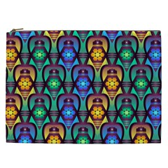 Pattern Background Bright Blue Cosmetic Bag (XXL)