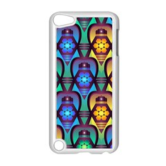 Pattern Background Bright Blue Apple iPod Touch 5 Case (White)