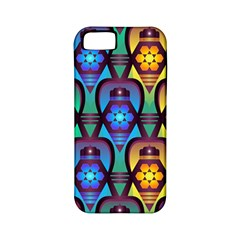 Pattern Background Bright Blue Apple iPhone 5 Classic Hardshell Case (PC+Silicone)