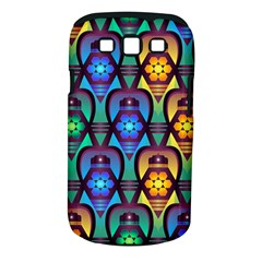 Pattern Background Bright Blue Samsung Galaxy S III Classic Hardshell Case (PC+Silicone)