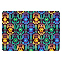 Pattern Background Bright Blue Samsung Galaxy Tab 8.9  P7300 Flip Case