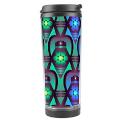 Pattern Background Bright Blue Travel Tumbler