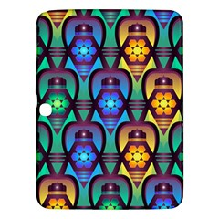 Pattern Background Bright Blue Samsung Galaxy Tab 3 (10.1 ) P5200 Hardshell Case