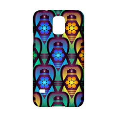 Pattern Background Bright Blue Samsung Galaxy S5 Hardshell Case