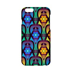 Pattern Background Bright Blue Apple iPhone 6/6S Hardshell Case