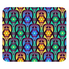 Pattern Background Bright Blue Double Sided Flano Blanket (Small)