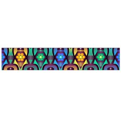 Pattern Background Bright Blue Flano Scarf (Large)
