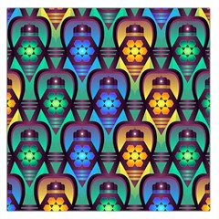 Pattern Background Bright Blue Large Satin Scarf (Square)