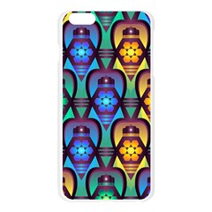 Pattern Background Bright Blue Apple Seamless iPhone 6 Plus/6S Plus Case (Transparent)