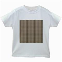 Pattern Background Stripes Karos Kids White T-Shirts