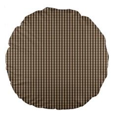 Pattern Background Stripes Karos Large 18  Premium Flano Round Cushions
