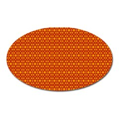 Pattern Creative Background Oval Magnet