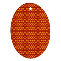 Pattern Creative Background Oval Ornament (Two Sides)