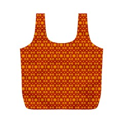 Pattern Creative Background Full Print Recycle Bags (M)