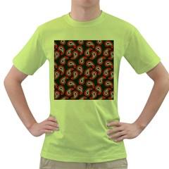 Pattern Abstract Paisley Swirls Green T-Shirt