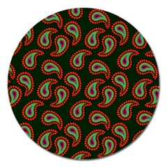 Pattern Abstract Paisley Swirls Magnet 5  (round)