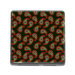 Pattern Abstract Paisley Swirls Memory Card Reader (square)