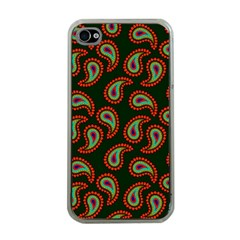 Pattern Abstract Paisley Swirls Apple Iphone 4 Case (clear)