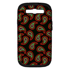 Pattern Abstract Paisley Swirls Samsung Galaxy S III Hardshell Case (PC+Silicone)