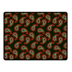 Pattern Abstract Paisley Swirls Double Sided Fleece Blanket (small)