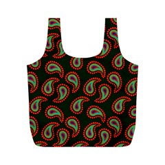 Pattern Abstract Paisley Swirls Full Print Recycle Bags (m)