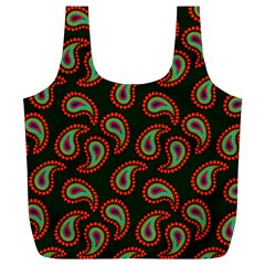 Pattern Abstract Paisley Swirls Full Print Recycle Bags (L)
