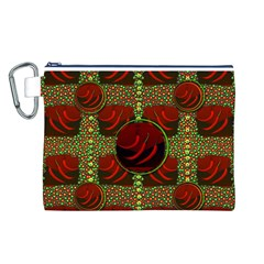 Spanish And Hot Canvas Cosmetic Bag (L)