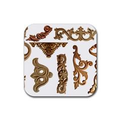 Pattern Motif Decor Rubber Coaster (Square)