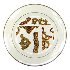 Pattern Motif Decor Porcelain Plates