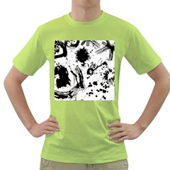 Pattern Color Painting Dab Black Green T-Shirt