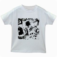 Pattern Color Painting Dab Black Kids White T-Shirts