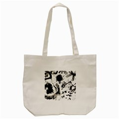 Pattern Color Painting Dab Black Tote Bag (Cream)