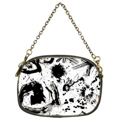 Pattern Color Painting Dab Black Chain Purses (One Side)